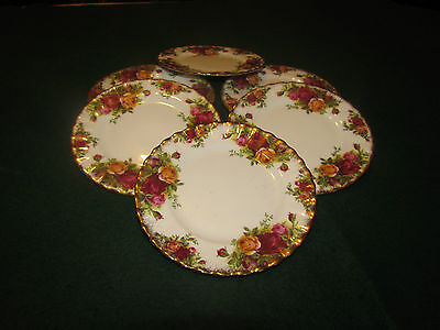 """ROYAL ALBERT OLD COUNTRY ROSE 8"""" Side  PLATES X 6"""