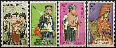 Laos 1964 SG#147-150 People Of Laos MNH Set #D39665