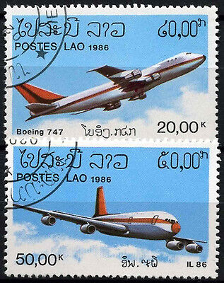 Laos 1986 SG#906-7 Aircraft Cto Used Set #D39667
