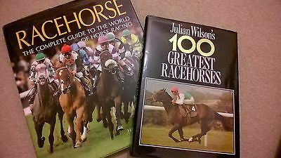 2 x HORSE RACING BOOKS,  HARDBACK,  COLLECT ONLY