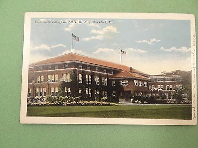 1917 Emerson Brantingham Office Building Postcard Rockford, Illinois