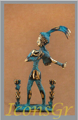 Ancient Greek Bronze Museum Statue Replica Of The Prince Of Lilies Collectable