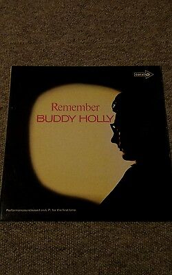 Buddy Holly-Remember 1971 Vinyl Album-Coral Cps71 1L/2L