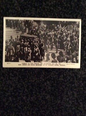 The Funeral of King Edward the Peacemaker May 20th 1910 - Vintage Photo Postcard