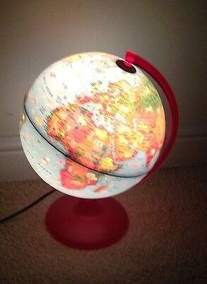 spinning world globe - light-up / illuminating