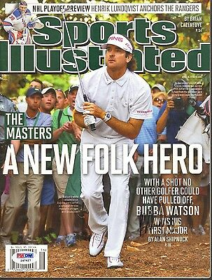 Bubba Watson Signed Autographed 2012 Master's Sports Illustrated Psa/dna #z47427