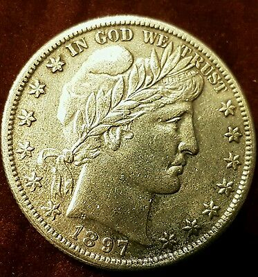 Extremely Rare 1897 O Silver Barber Half Dollar Coin almost UNC Superb