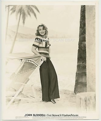 Joan Blondell Sexy At Beach Vintage Publicity Portrait Photo