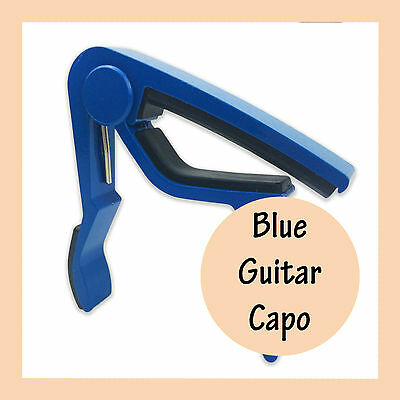 Blue Guitar Capo Aluminum Spring Trigger Electric Acoustic Clamp Quick Release