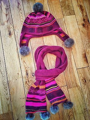 Kenzo Girls Hat Ands Scarf Set Age 2-4 Rrp:£80
