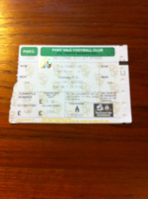 MATCH TICKET - PORT VALE JUNIORS v CHELSEA U-18S  2002-03 FA YOUTH CUP