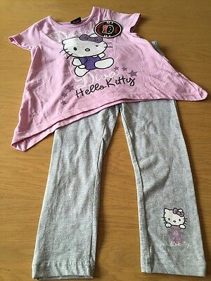 *BNWT* Girls Hello Kitty 2 Piece Legging & Top Set (3-4 Years) *FREE UK P&P*