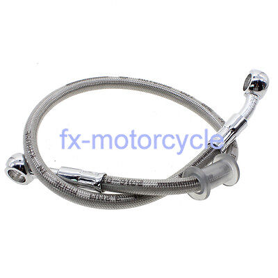 800mm Motorcycle Brake Oil Hose Line Fitting Stainless Steel Braided