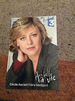 Cecile Auclert (Actress) Signed Publicity Card