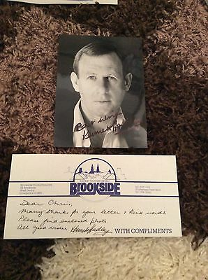 Kenneth Hadley (Brookside) Signed Photo & Hand Written Letter