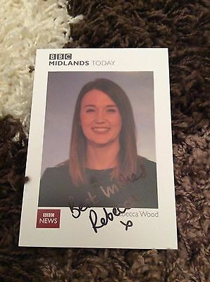 Rebecca Wood (Bbc Midlands Today) Signed Cast Card