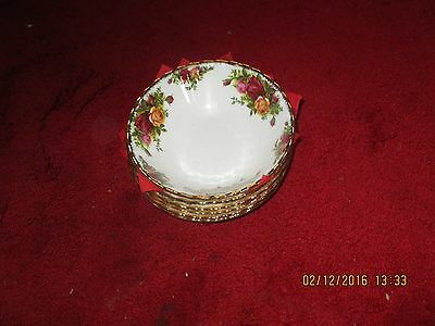 ROYAL ALBERT OLD COUNTRY ROSES 6 x DESERT/ SOUP  BOWLS. DISHES