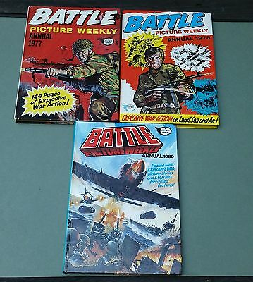 BATTLE PICTURE WEEKLY comics ANNUAL 1977-1978-1980