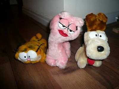 Garfield, Odie and Arlene Vintage soft toys from 1980's
