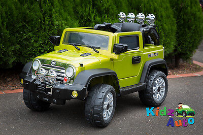 Kids 12volt Electric Ride-On Green Jeep - BRAND NEW + Remote Control