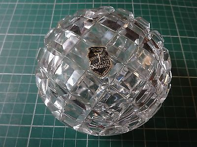 Hand Cut Lead Crystal Glass Bowl-Westmore-Made In Germany