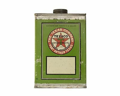 Texaco Port Arthur Green Pint Square Oil Can - Black T