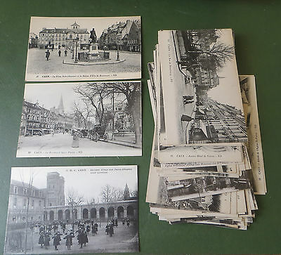 Vintage Postcard Collection x 56 PPC, Caen France, CPs, Street Scenes, Churches