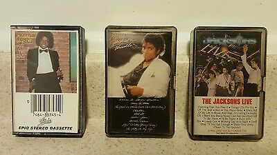 Michael Jackson cassette lot Thriller Off the Wall Live
