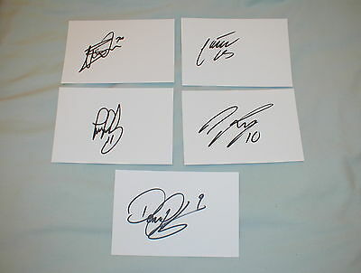 Signed Set Of Oldham Athletic  White Cards Set Two