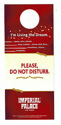 "Las Vegas NV Vintage ""IMPERIAL PALACE Please Do Not Disturb. Sign """