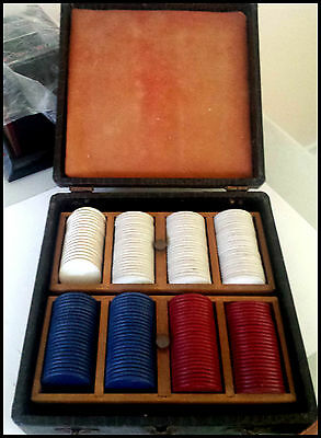 Vintage Briefcase Carry All for Poker Chip Set (Appx 200 chips)