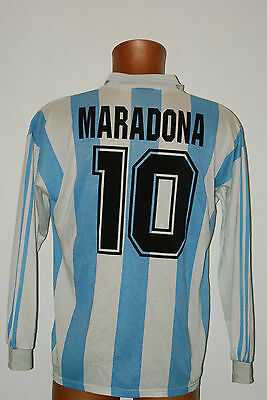 maradona shirt vintage match worn issued usa 1994 adidas jersey soccer t3
