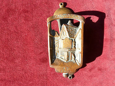 Vintage Bronze Door Knocker Scarbourgh AD1300 Rd No 670??? On Back