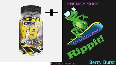 T9 Extreme Labs Black Fury Weight Loss Pills Caps Fat Burner Capsules