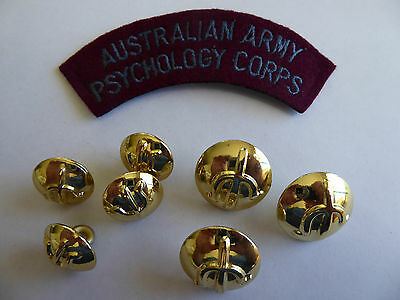 AUSTRALIAN ARMY PSYCHOLOGY CORPS Patch and buttons