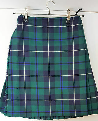 "Ex Hire 32"" waist 25"" drop Douglas Modern 6 Yard Wool Kilt A1 Condition"