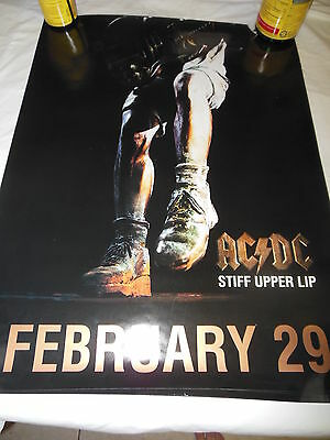 AC/DC Stiff Upper Lip cd release poster new unhung 3 copies 18x24