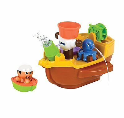 Tomy Baby Pirate Ship Kids Bath Time Squirt Water Toddler Activity Floating Toy