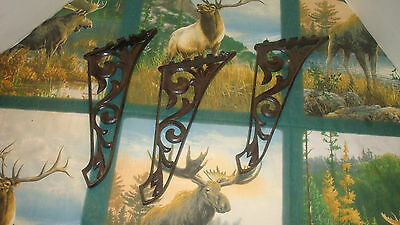 Antique Cast Iron Shelf Brackets Set Of 3
