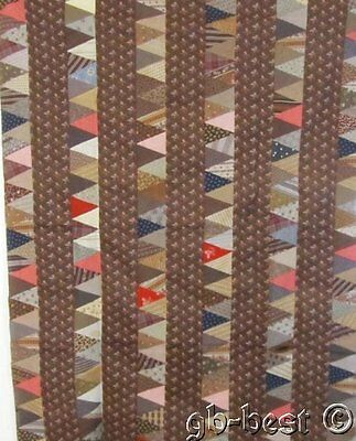 Antique PA 1860s Pyramids Quilt Top A CHARMER Browns Hallman Homestead
