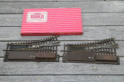 Hornby Dublo 2 rail points OO scale