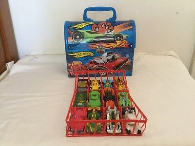 Hot wheels diecast cars with tin lunchbox loose lot of 12
