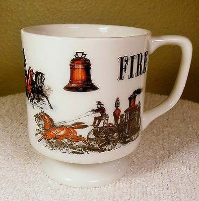 Vintage Fire Mug Cup With Multiple Vintage Fire Pictures