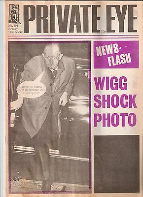 Private Eye Mag # 391 10 December 1976 Lord George Wigg Paymaster General cover