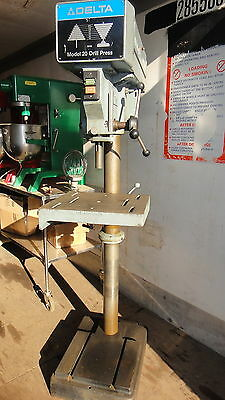 Ma E Delta Rockwell Drill Press Floor Standing Tilt Table 1 .5Hp  Powermatic
