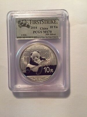 2014-Panda-MS70-PCGS -Panda Label-30g-10Y-First Strike