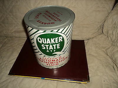 Vintage Quaker State Metal Automatic Transmission Fluid 1 Gallon Can (Full)