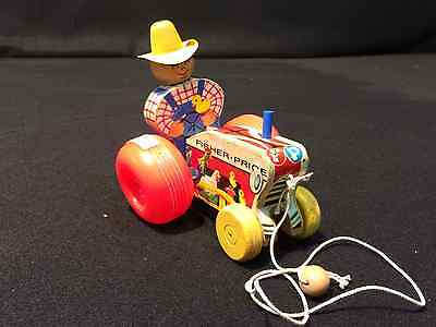 Fisher Price Farmer 629 Tractor Toy So Cute