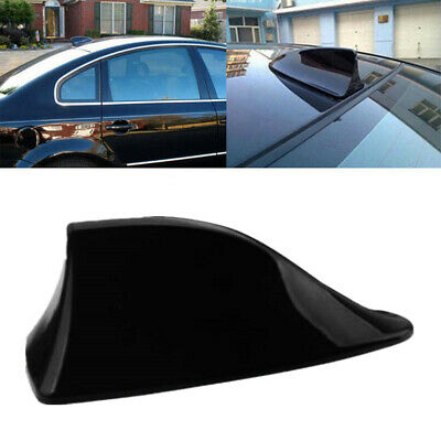 New Universal Car Shark Fin Roof Antenna Radio FM/AM Decorate Aerial Black