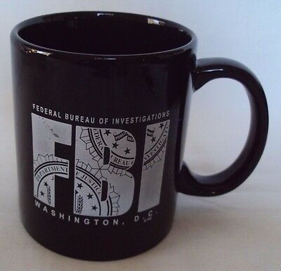 FEDERAL BUREAU of INVESTIGATION ~ FBI  US Department of Justice Coffee Cup/Mug